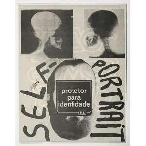 PAULO BRUSCKY - Self-Portrait, Protetor para Identidade. Ano: 1976. Offset no. 89/200 sobre papel diamagrado no verso Todos somos úteis. Dimensões: 23 x 18cm. Assinado e numerado no centro esquerdo.