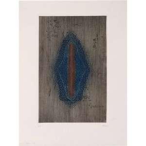 ARTHUR LUIZ PIZA - Gravura em metal (água-forte e goiva) Faîte. Ano: 1967, MI 46,2 x 28,7 cm - ME 65 x 49,5 cm. Ass. inf. direito. Gravura catalogada sob o n. 113 no livro Piza – catalogue général de l'oeuvre gravé, de K. Masrour.