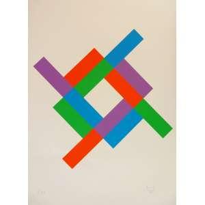 MAX BILL - Serigrafia 60x42cm sem moldura. Assinada pelo artista no canto inferior direito. ACID. Tiragem: 1/50. Ano: 1985. Sem moldura.