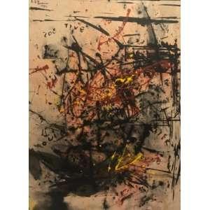 ARTUR BARRIO - Mista sobre papel montada em placa. Dimensões: 59 x 76cm. Ano:1980. Ass. canto sup. esq.