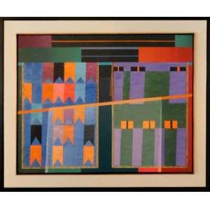 PAULO CALAZANS, Homenagem a Alfredo Volpi, Acrílica sobre tela - 130x100 cm - ACID e Verso