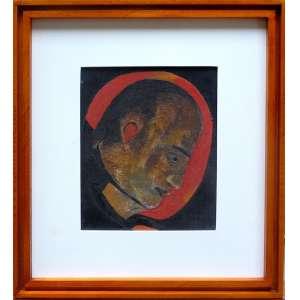 RUBENS GERCHMAN, Sem titulo - Óleo sobre tela colado sobre cartão - 26x21 cm - Assinado no verso<br />