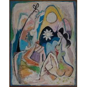 MARTINS DE PORANGABA, Estrela do Amanhã - Acrílica sobre tela - 103X80 cm - ACIE 2001 ( Com selo da Galeria Tema Arte Contemporânea )