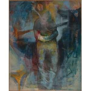 NEWMAN SCHUTZE , Conflito - Técnica mista sobre tela - 150x120 cm - ACID 1986 ( Com selo da Galeria Tema Arte Contemporânea )