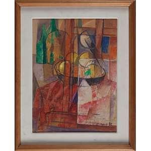 JOSÉ MORAES, Além do cavalete - Óleo sobre tela colado placa - 40x30 cm - ACID e VERSO 1985 ( Com selo da Galeria Tema Arte Contemporânea )
