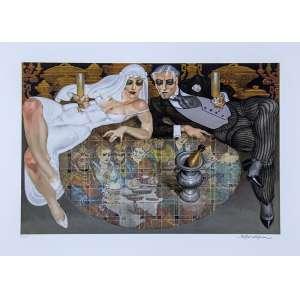 JUAREZ MACHADO, Noivos - Gravura 110/200 - 50x70 cm - ACID