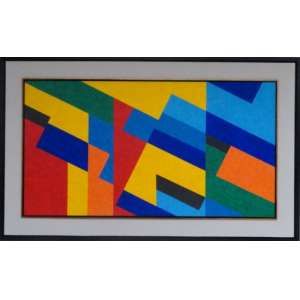 CLAUDIO TOZZI - Teclado - Acrílica sobre tela - 70x130 cm - ACID e VERSO (Com documento de autenticidade)