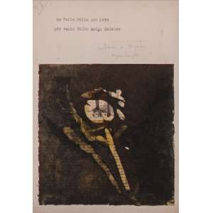 Yutaka Toyota (1931) - Feliz Ano Novo - técnica mista sobre papel - 24 x 28 cm - 1964