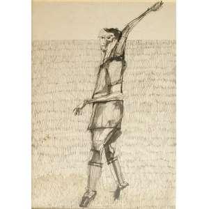 Aldemir Martins (1922-2006) - Figura - Nanquim - 46 x 30 cm - 1965 - Assinado e datado embaixo no centro