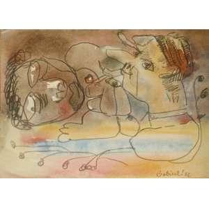 Maciej Babinski (1931) - Sem título - Aquarela - 1982 - 20 x 28 cm - Sem moldura
