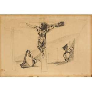 Emiliano Di Cavalcanti<br>Cristo Crucificado <br>TM Crayon e grafite <br>31,5 x 46 Déc. 40 <br>ACID