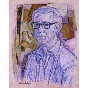 Manoel Martins Menacho<br />Auto-Retrato - Óleo sobre tela - 70x56 cm - 1984 - A.C.I.E