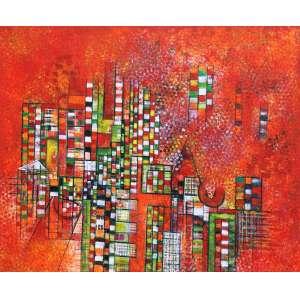 Miriam Nigri Schreier<br />Calor humano - Acrílica sobre tela - 65x90 cm - 2011 - A.V