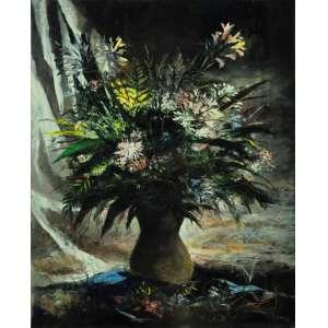 Enrico Bianco, Vaso de Flores, óleo s/tela, 100 x 80, 1947, assinado cid. Com sua autenticidade atestada por Paulo Bianco.