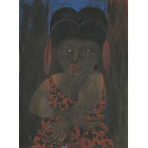 Josafá Neves, Figura Feminina, Óleo sobre tela, medindo 90 x 67 cm, assinado CID e Verso.