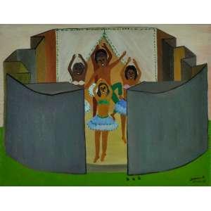Waldomiro de Deus, Dançarinas, ost, Medindo 70x 90 cm, dat.1976, assinada Cid e verso.