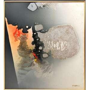 Fukuda, Abstração, Óleo sobre tela, medindo 80 x 80 cm ,assinado CID e Verso, datado 1989.