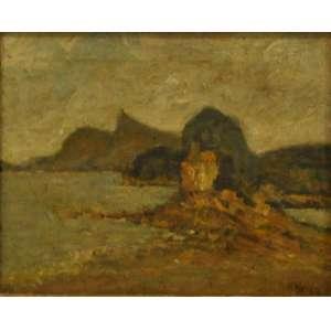 Milton Dacosta<br />Paisagem, ost, medindo 22x27 cm. Rio de Janeiro, 1933. Corcovado ainda sem o Cristo Redentor. assinada Cid.