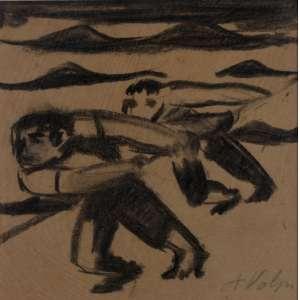 Volpi. Carvão s/ cartão, medindo 19 x17 cm, Déc.40, assinado Cid. Reproduzida em catálogo de leilão Soraia Cals Outubro/2005. Ex-coleção Flávio Damm.