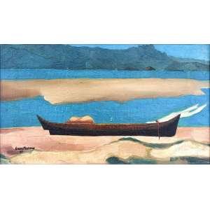 Israel Pedrosa, Marinha, Sem título, medindo 26 x 46 cm, assinada e datada 1967 no CIE. Catalogado em Leilão Soraia Cals.