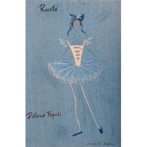 Santa Rosa, Delicia Populi/Roseta, Óleo sobre cartão, medindo 30 x 20 cm, assinada CID.