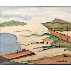 Bustamante Sá, Cabo Frio/RJ, Óleo sobre tela, medindo 50 x 60 cm, assinado CID e VERSO.