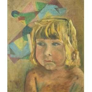 Elon Brasil, Figura de Criança, Óleo sobre compensado, medindo 40 x 34 cm, assinado CIE.
