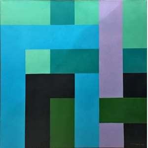 Judith Lauand, Sem Título, Óleo sobre tela, medindo 60 x 60 cm, assinada e datada 1986. Apresenta certificado de autenticidade.