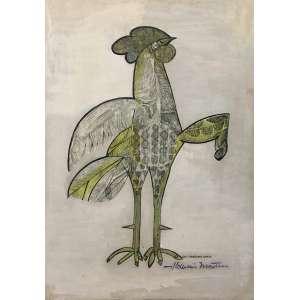 Aldemir Martins, Galo, Serigrafia, medindo 63,5 x 46 cm, assinado e datado 1965.