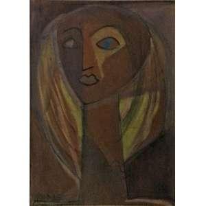 Athos Bulcão, Figura, Guache, 26,5 x 19 cm, datado 1947.