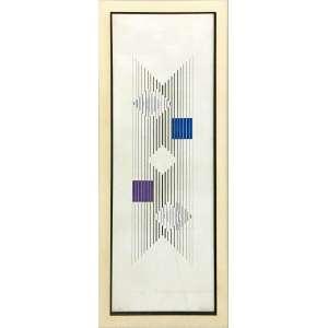 Lothar Charoux, Gravura, 100 x 25 cm , assinada e datada 1974, CID. Edição 20/25.