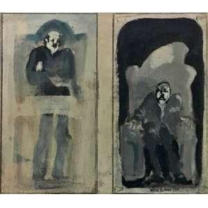Athos Bulcão, Sem Título, pintura sobre cartão, 21 x 24 cm, assinado e datado CID 1963.