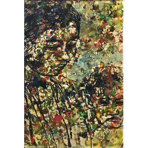 Tran Tho, Moça, Óleo sobre madeira, 33,5 x 21 cm, assinado CID.