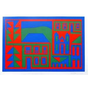 ANJOS, Jorge dos. Composição - Gravura 19/90 - 47x65 cm – ACID.