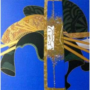 WAKABAYASHI - Serigrafia. Kanzashi Medidas 60 X 60 CM. Tiragem 60/100.A.C.I.D, sem moldura. Acompanha certificado de autenticidade.
