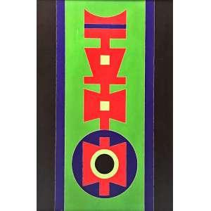 Rubem Valentim, Emblema 87, Acrílica sobre eucatex, 44 x 30 cm , assinado e datado 1987. Ex-Coleção Celso Albano.