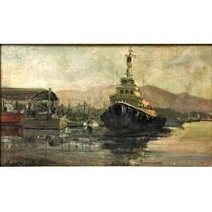 J.N. SANTOS SILVA, Sem Título, Óleo sobre eucatex, 31 x 53 cm, assinado e datado 93.