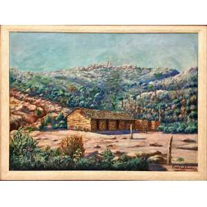 Funchal Garcia, Paisagem, Óleo sobre tela, 53 x 72,5 cm, assinado CID.