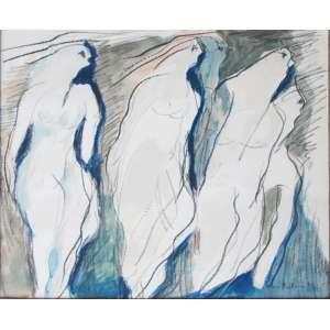 Athos Bulcão 26x30 técnica mista:aquarela/crayon. Mulheres, 1948