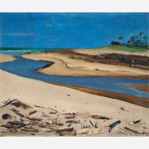 José Pancetti<br>Da série Bahia.<br>Óleo sobre tela<br>51 x 61 cm.