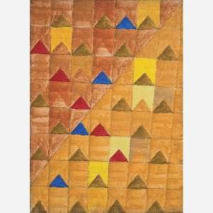 Alfredo Volpi<br>Bandeirinhas, <br>Têmpera sobre tela<br>33 x 24 cm.