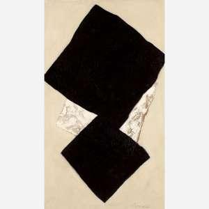 Tomie Ohtake<br>Óleo sobre tela<br>120 x 70 cm.