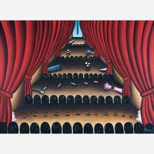 Antônio Henrique Amaral<br>Óleo sobre tela<br>185 x 250 cm.