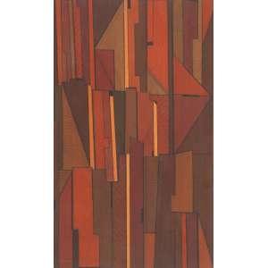 """MACAPARANA<br>""""Sem titulo""""<br> Óleo sobre tela colado em eucatex. Ass.dat. 1985 no verso. 75 x 46 cm."""
