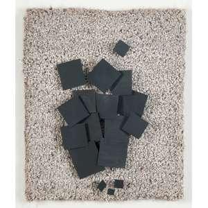 """ARTHUR LUIZ PIZA<br>""""96 A""""<br> Relevo em metal e sisal. 1983. Ass. 30 x 25 cm/ 41 x 36 cm. Com etiqueta da Raquel Arnaud."""
