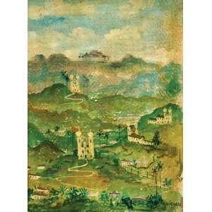 Alberto da Veiga Guignard<br>Paisagem de Ouro Preto - osc <br>20 x 15