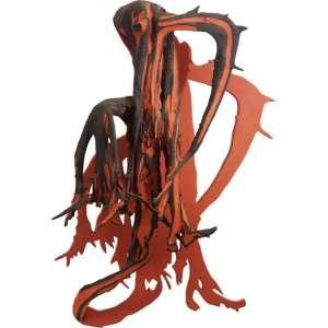 Franz Krajcberg<br>Sombra - madeira pintada com pigmentos naturais <br>déc. 90 - <br>130 x 85 x 43,5