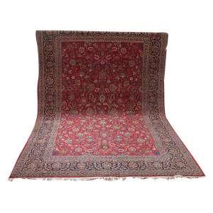 Antigo tapete Tabriz,357 x 2,43 m2 (8,76 m2).