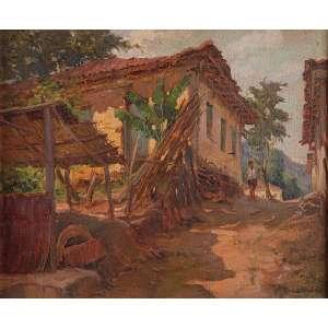 LABOZETTO<br>Casa Conceição do Mato Dentro, Minas Gerais. Ost,46 x 38 cm.<br>Assinado no cid. Selo da Exposição da Secretaria de Estado da Cultura.