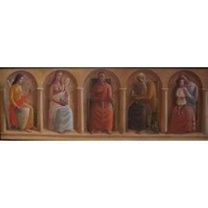 FULVIO PENNACCHI - Grande painel executado a oleo sobre tela .Assinado e datado 1940 - 120 x 360 cm.